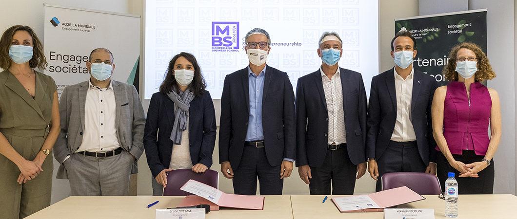 AG2R LA MONDIALE, Grand Partenaire de Montpellier Business School, s'engage auprès de la Chaire Entrepreneuriat Social & Inclusion.