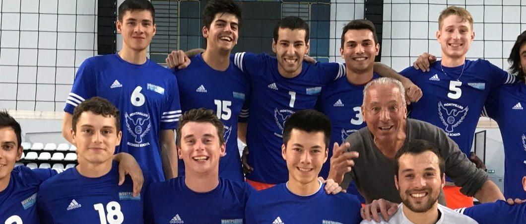 Deux trophées, 3 finales et une équipe du tonnerre ! Retour sur la belle aventure des volleyeurs de Montpellier Business School !