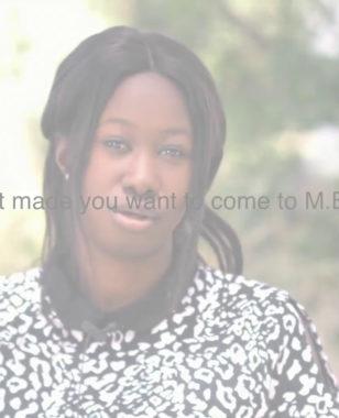 Laurence, international student (Senegal) at Montpellier Business School