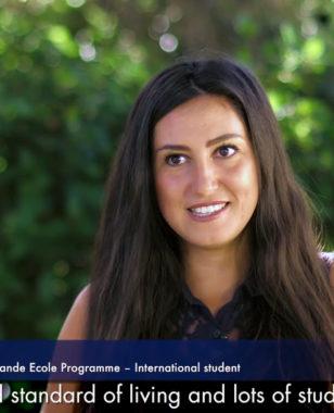 Nada, international student (Montenegro) at Montpellier Business School