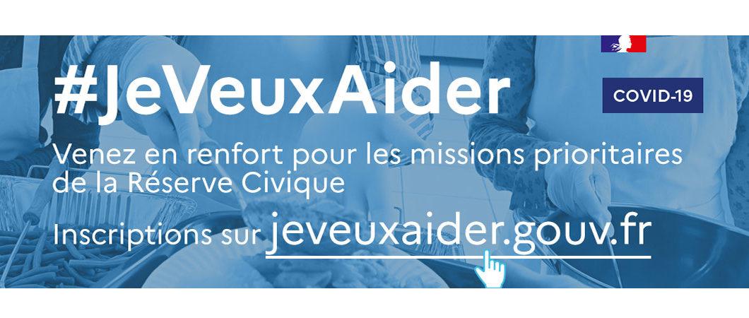 Lancement de la plateforme jeveuxaider.gouv.fr – Réserve civique COVID-19