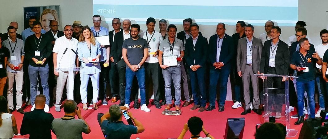 Montpellier Business School remet le prix « Transition numérique et performance » des 16e Trophées de l'Economie Numérique à l'agence Numix.