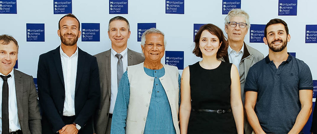 """Inauguration du """"Yunus Centre for Social Business and Financial Inclusion"""" à Montpellier Business School"""