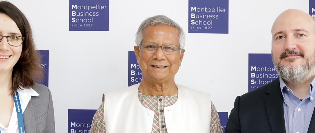 Valoriser le social business : MBS reçoit le Professeur Muhammad Yunus & présente sa Chaire en Microfinance