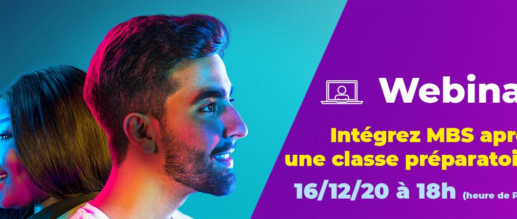Webinar – Intégrez MBS après une classe préparatoire – 16/12/20