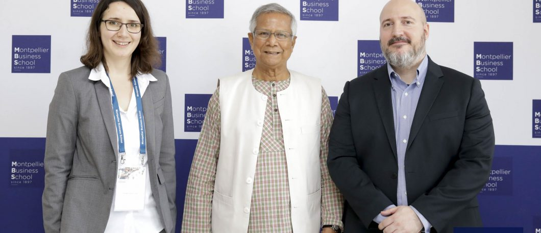 Venue du Professeur Muhammad Yunus & présentation de la Chaire en microfinance