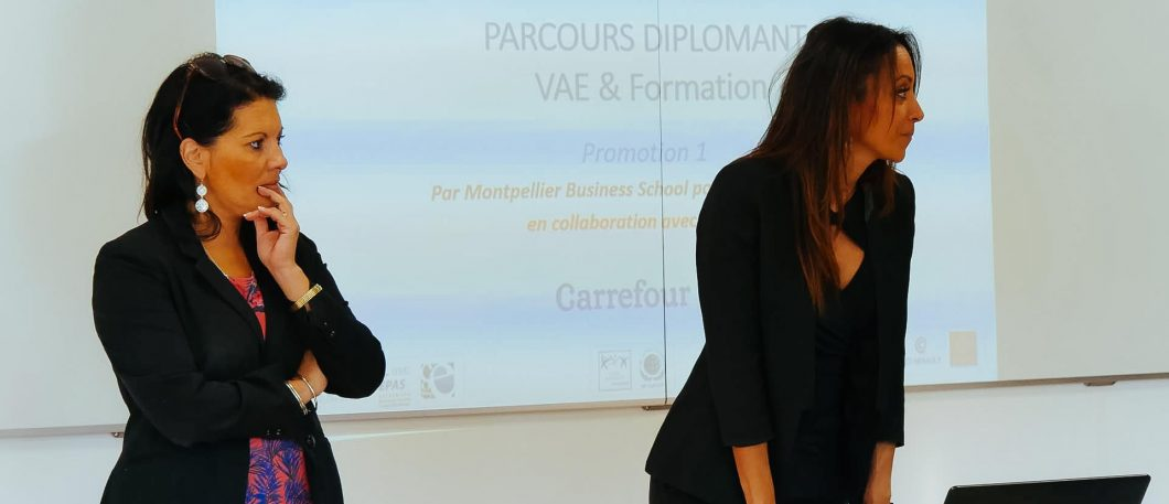 Rentrée des participants VAE hybride Carrefour