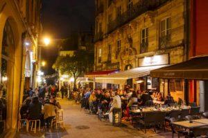 Rues animées de Montpellier quartier Saint-Roch